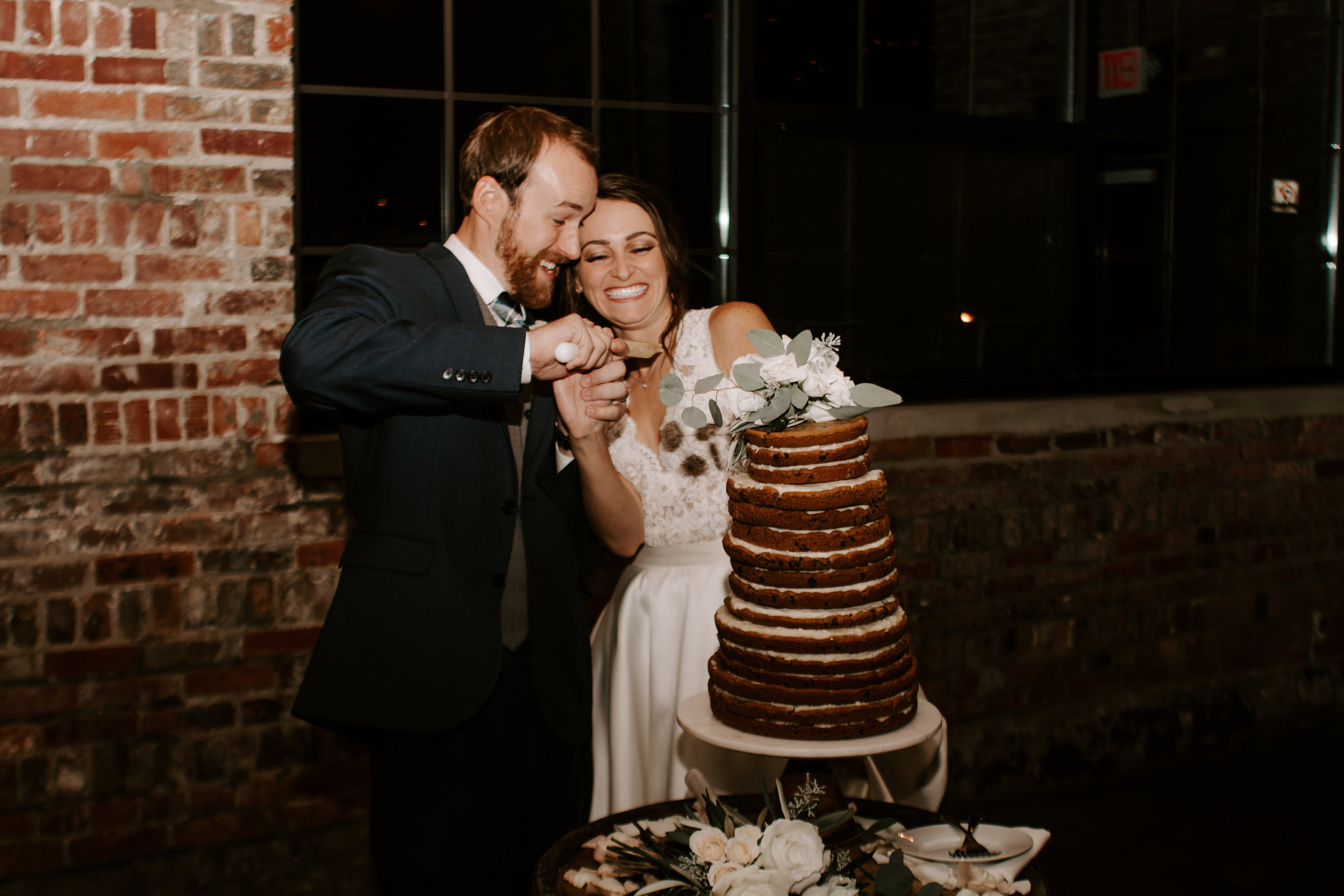 Wedding Cake Reception Photo by Kerri Carlquist Photography
