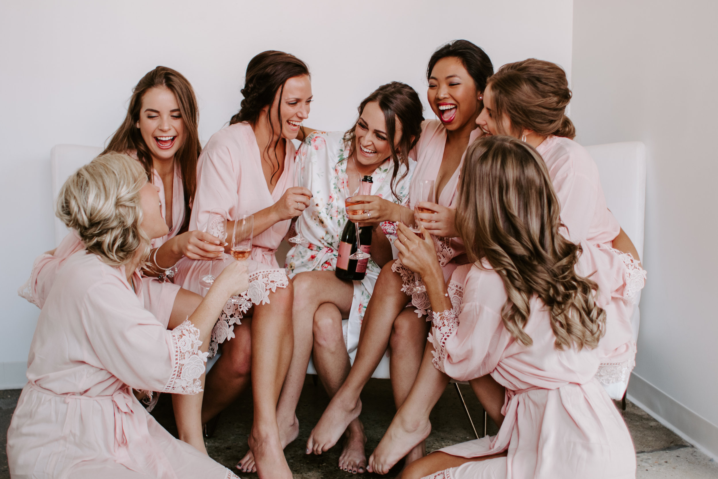 Bridesmaids Matching Wedding Photo by Kerri Carlquist Photography