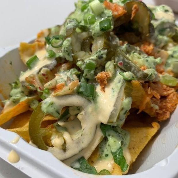 Gotta love some kimchi nachos on a Saturday night! Come dig in tonight from 6-9pm at Brigid's Bottleshop in Edmonds! #nachos #kimchinachos #eatedmonds #brigidsbottleshop #beerme #tacos #chinolatino #saturdaynight
