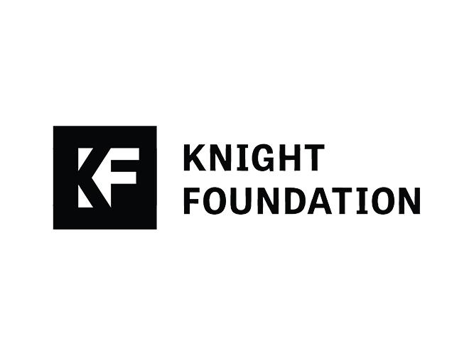 Knight Foundation logo. Links to program page.