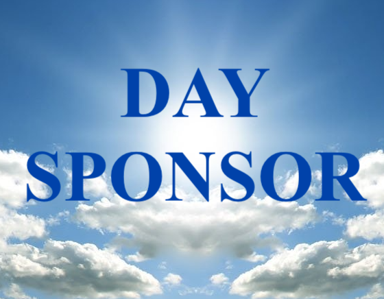 A Day Sponsor is a gift of $83 a month, or a $1000 one time. You pick a day on the calendar (first come, first serve) and get 10-12 mentions throughout the day to Honor someone, make a birthday announcement, anniversary, etc.