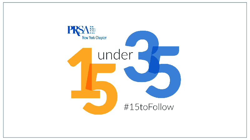 WINNER   PRSA-NY 15 Under 35 Award