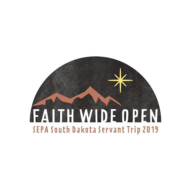 Excited to see this logo and icons for @sepayouth out in the big, wide world this week!  #sepayouth #southdakota #faithwideopen #logodesign #lutheran #servanttrip