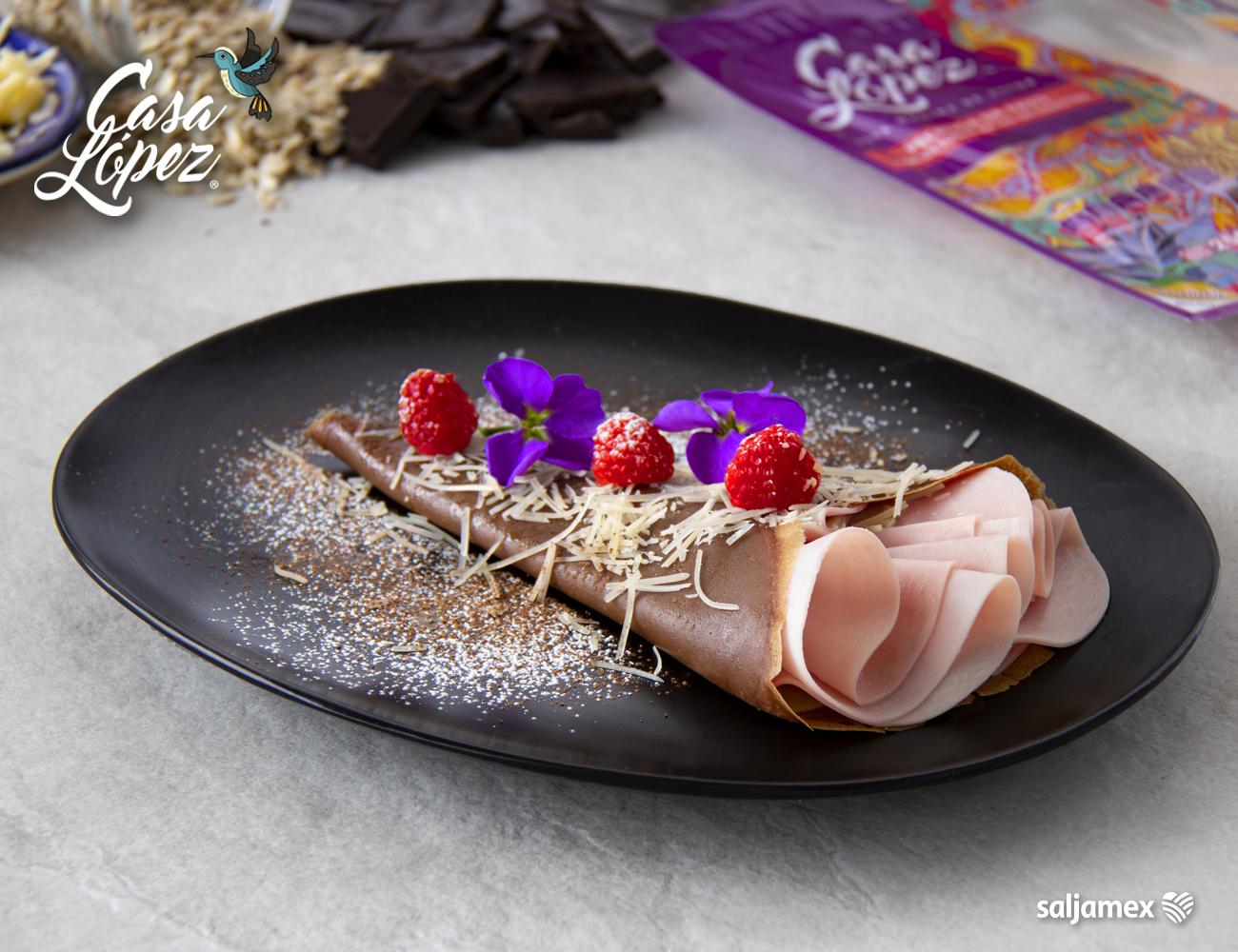 crepas de cacao con un toque de sal de celestun casa lopez