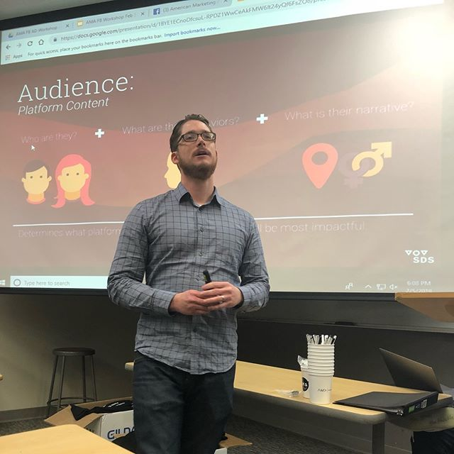 We hope everyone enjoyed last nights Facebook Ad workshop! We look forward to analyzing the results of our ad with you at February 22nd's Social Media Analytics workshop.