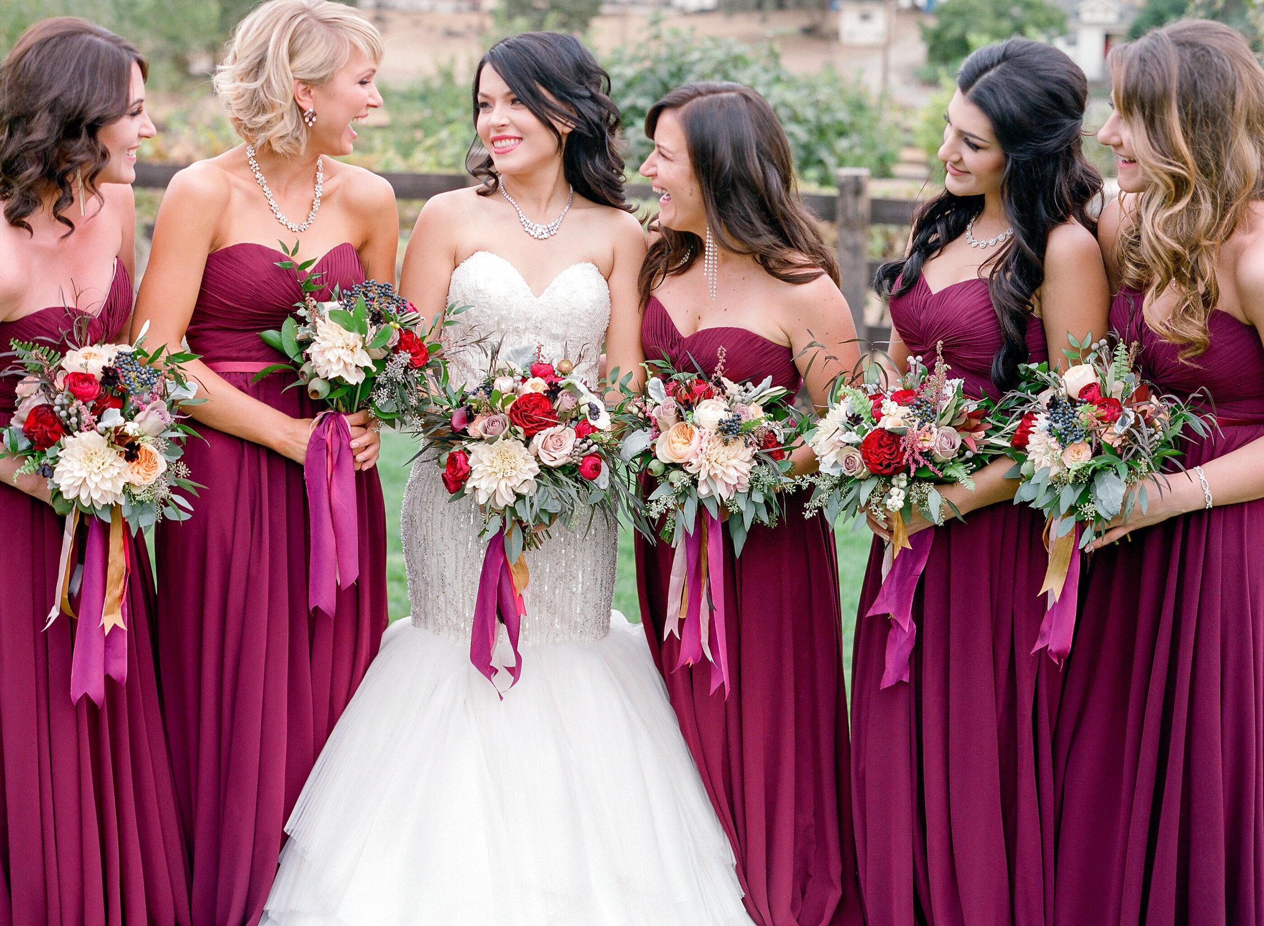 Amador_County_Wedding_Bride_Bridesmaids_Bouquets_Rancho_Victoria_Vineyard_Northern_California.jpg