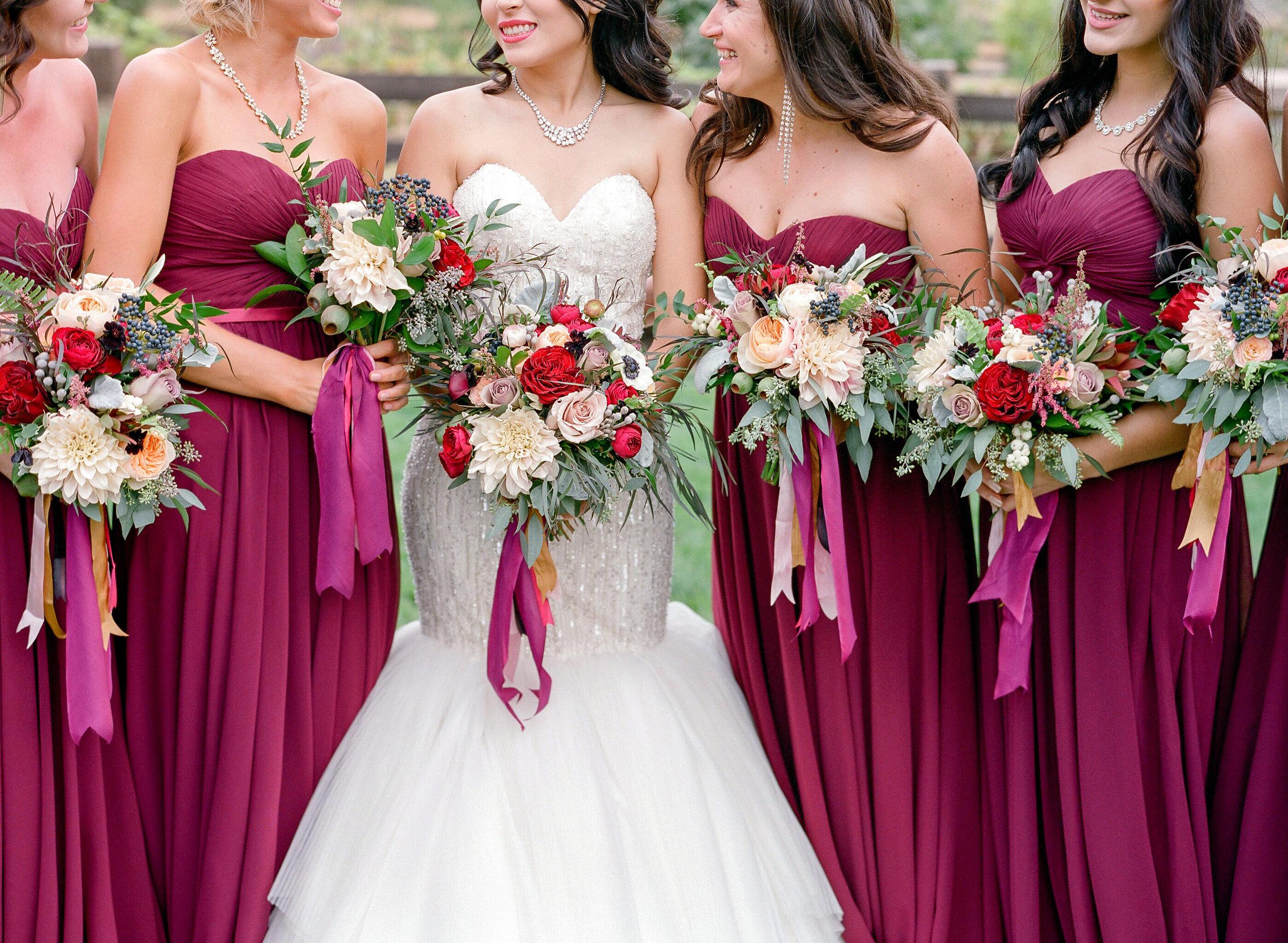 Amador_County_Wedding_Bride_Bridesmaids_Bouquets_Red_Burgundy_Gold_Rancho_Victoria_Vineyard_Northern_California.jpg