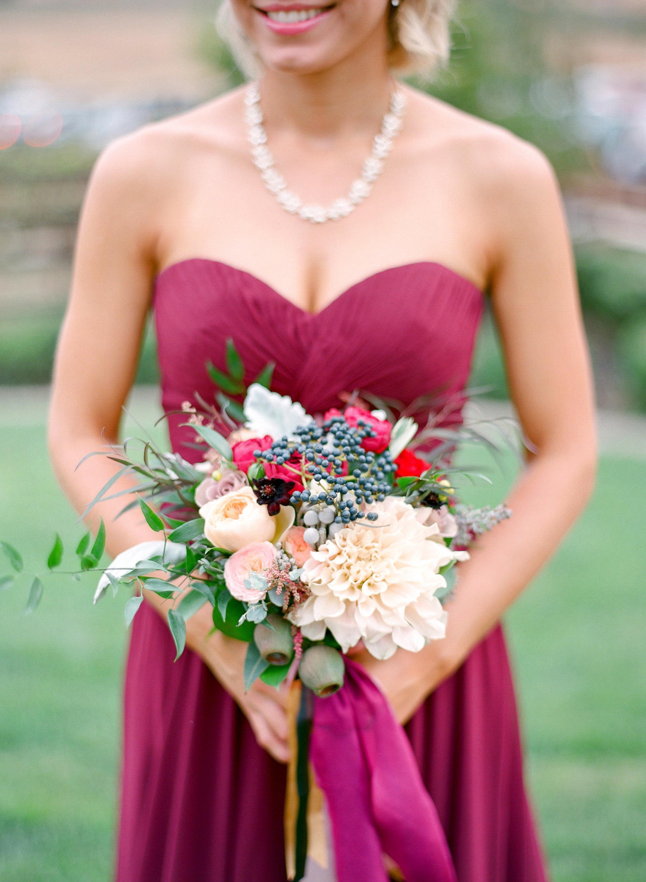 Amador_County_Wedding_Bridesmaid_Bouquet_Rancho_Victoria_Vineyard_Northern_California.jpg