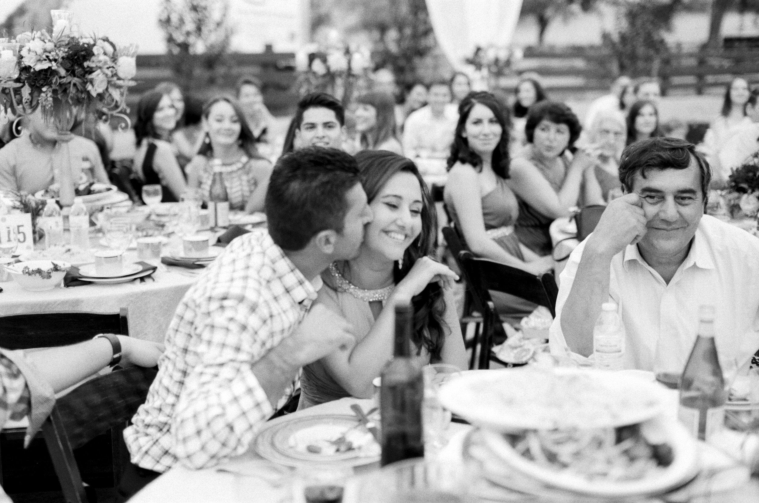 Amador_County_Wedding_Reception_Guests_Black_White_Rancho_Victoria_Vineyard_Northern_California.jpg