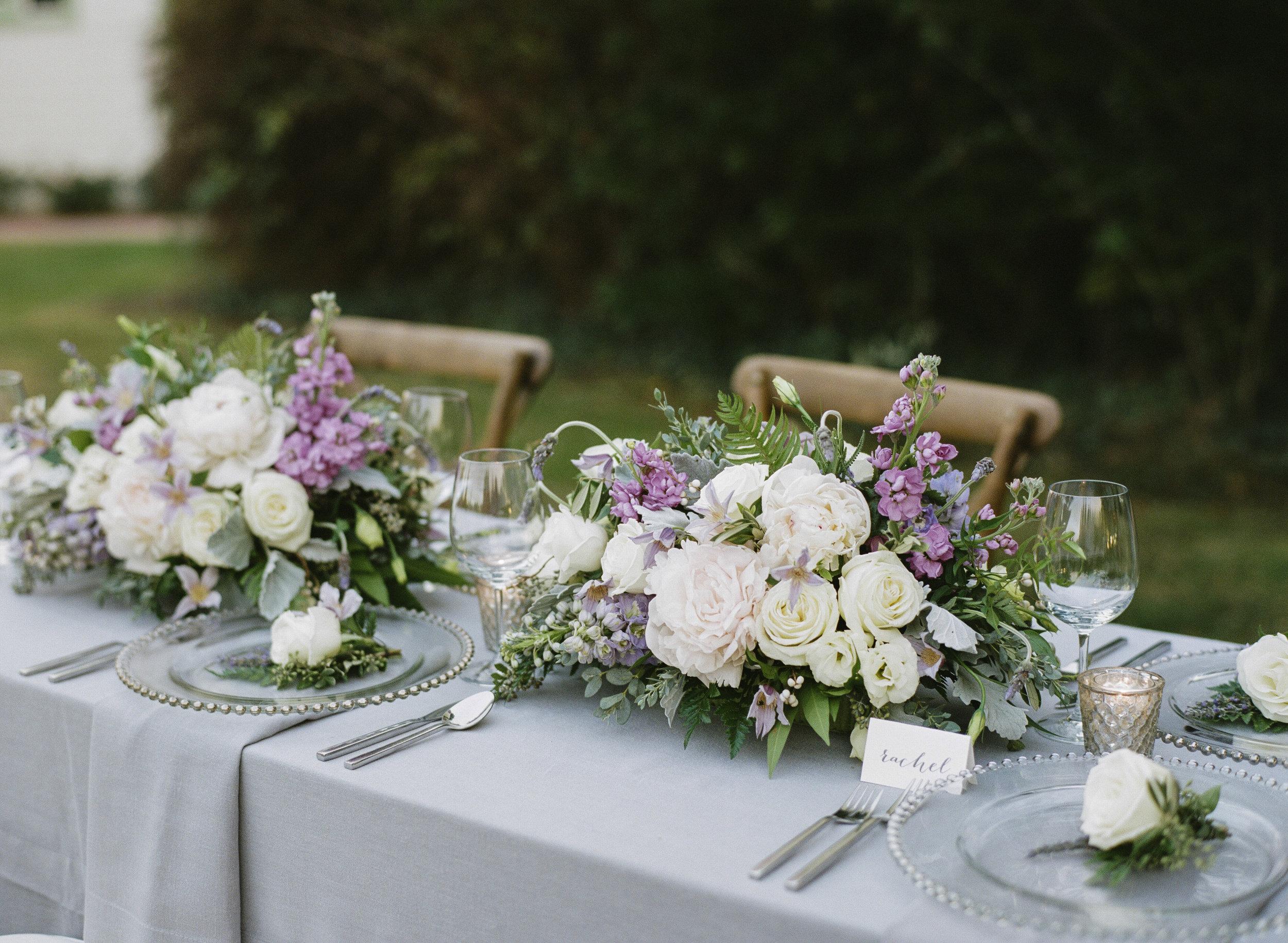 Violette-fleurs-roseville-sacramento-california-Flower-farm-inn-wedding-florist-spring-tablescape-blush-purple, ivory, greenery.jpg