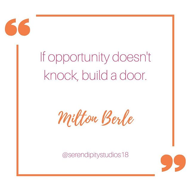 At our Posse of Proprietors: A Self-Employed Support Group, we share tools and tricks to help one another build their own doors. . Next meeting is July 16! . #instaquote #quotestagram #quotesofinstagram #miltonberle