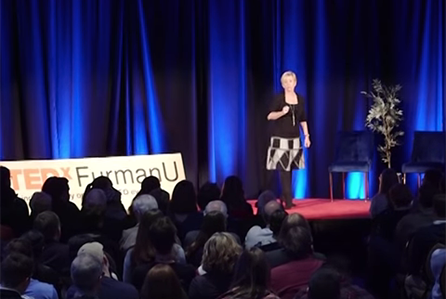 Jennifer Thompson gives a TedX talk at Furman University - Jennifer explores how a tiny action can have life changing impacts through the telling of her personal story.