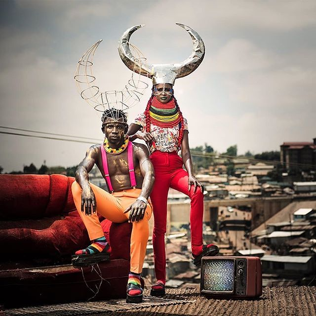 #Nairobi #CreativeEconomy #EcosystemExplorers In early 2018 @pichamarangi , a photographer and stylist from Kibera, travelled to Turkana on assignment. While in Turkana, Picha Marangi met Elizabeth Korikel, a translator, beading artist and singer. Each day at work they complemented each other's style, struck by how they both loved bold colour and statement pieces. Along the way love blossomed. To celebrate their nuptials, they created looks that incorporated their shared love for vivid colour, Elizabeth's beading work and Picha Marangi's redesigned thrifted clothes. These are their wedding photos.  #Turkana #ArtistsXchange #MagiqBaby  Credits Artists: Elizabeth Korikel @lizkorikel (Beading) & Picha Marangi @pichamarangi (Styling & Clothes) Project Director: Jackie Lebo @jackielebo  Project Lead: Chelagat Tum @kitalebird  Photographer: Migwa Nthiga @migwa  Makeup: Suki @sukimakeupafrica  Hair: Corrine Muthoni @corrinemuthoni Graffiti: @bankslave Garment Construction: Tina Masese @tinamasese Metalwork: Sam Onyango  Photographer's Assistant: Kiragu Thuo @jkiragu  Production Assistant: Sylvia Okoth @archi.ang & Njeri Mwangi @canjemwangi  A @contenthouseke project #fashion #valentinesday2019 #africanfashion #afroart #africandesign #ootd #wedding #fashionlovers #fashionstory #africandesigners #afrostylists #flex #lovestory Reposted from @migwa