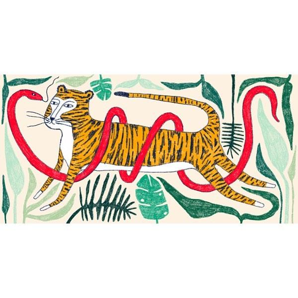 The Tiger and the Viper . . . . #art #artist #artwork #procreate #procreateapp #artistoninsta #artistoninstagram #artoninstagram #artoninsta #illustration #illustrationartists #illustrator #illustratorsoninstagram #illustratorsofinstagram #ipadpro #ipadproart #ipadproartist #procreateartist #tiger #viper #snake #jungle #childrenstorybook #childrensbooks