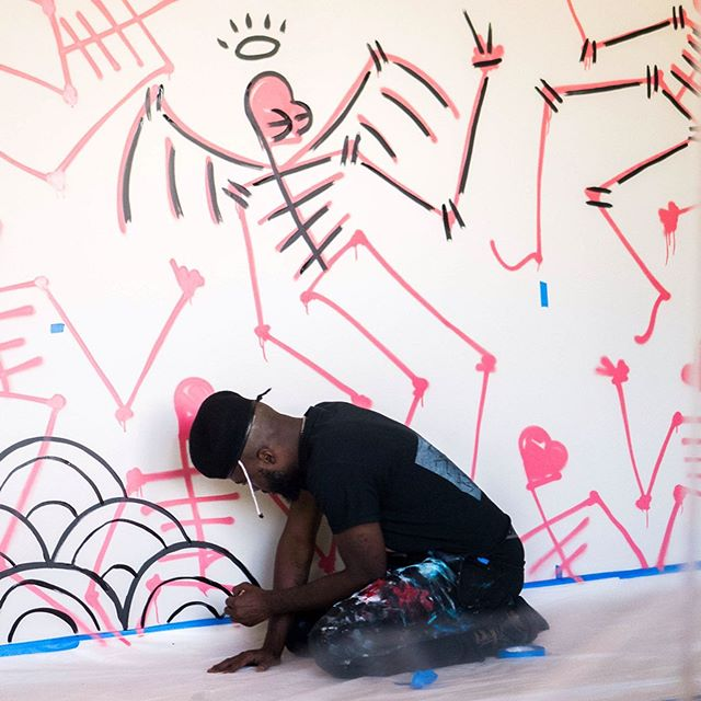 ⚡️GIANNI LEE X CORAL⚡️ We are extremely excited to collaborate with @giannilee on the artwork in some of our newest Coral Homes. A West Philly native - Gianni is a visual artist, international DJ and fashion designer. Much more to come with this guy!!
