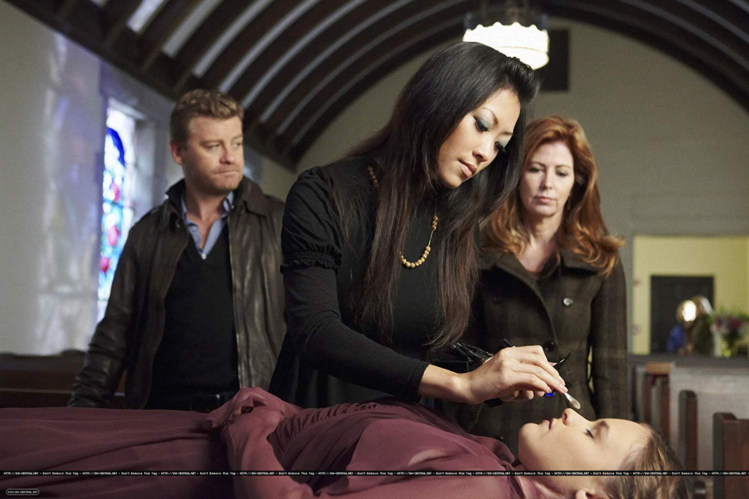 Dana Delany ,  Nic Bishop , and  Devon Diep  in  Body of Proof