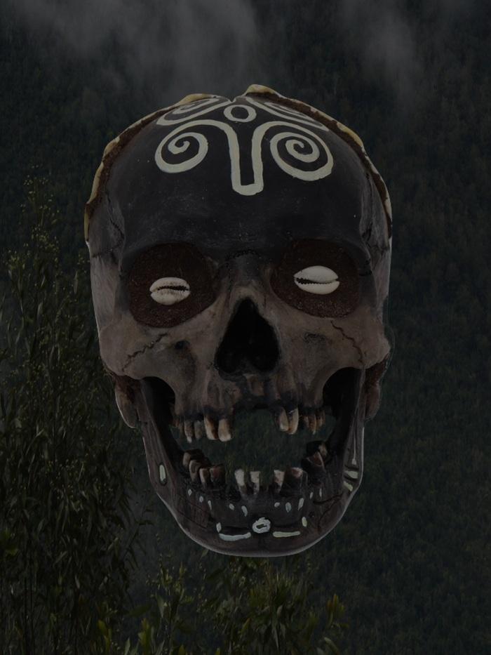 West African Voodoo Skulls - Ritual skulls based on West African practice and influe