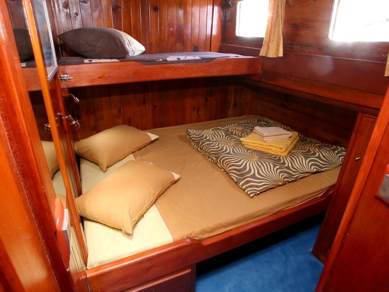 Suite Three - This room is ensuite with a double bed and a single bunk.Price per person $2,900