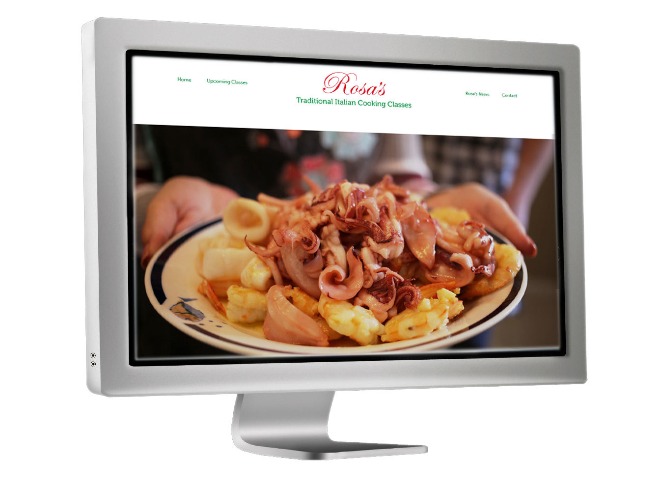 Cook with Rosa's website image