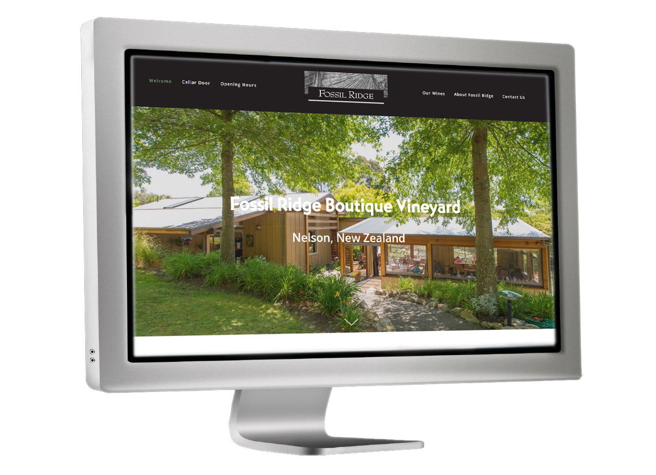 Fossil Ridge Winery website