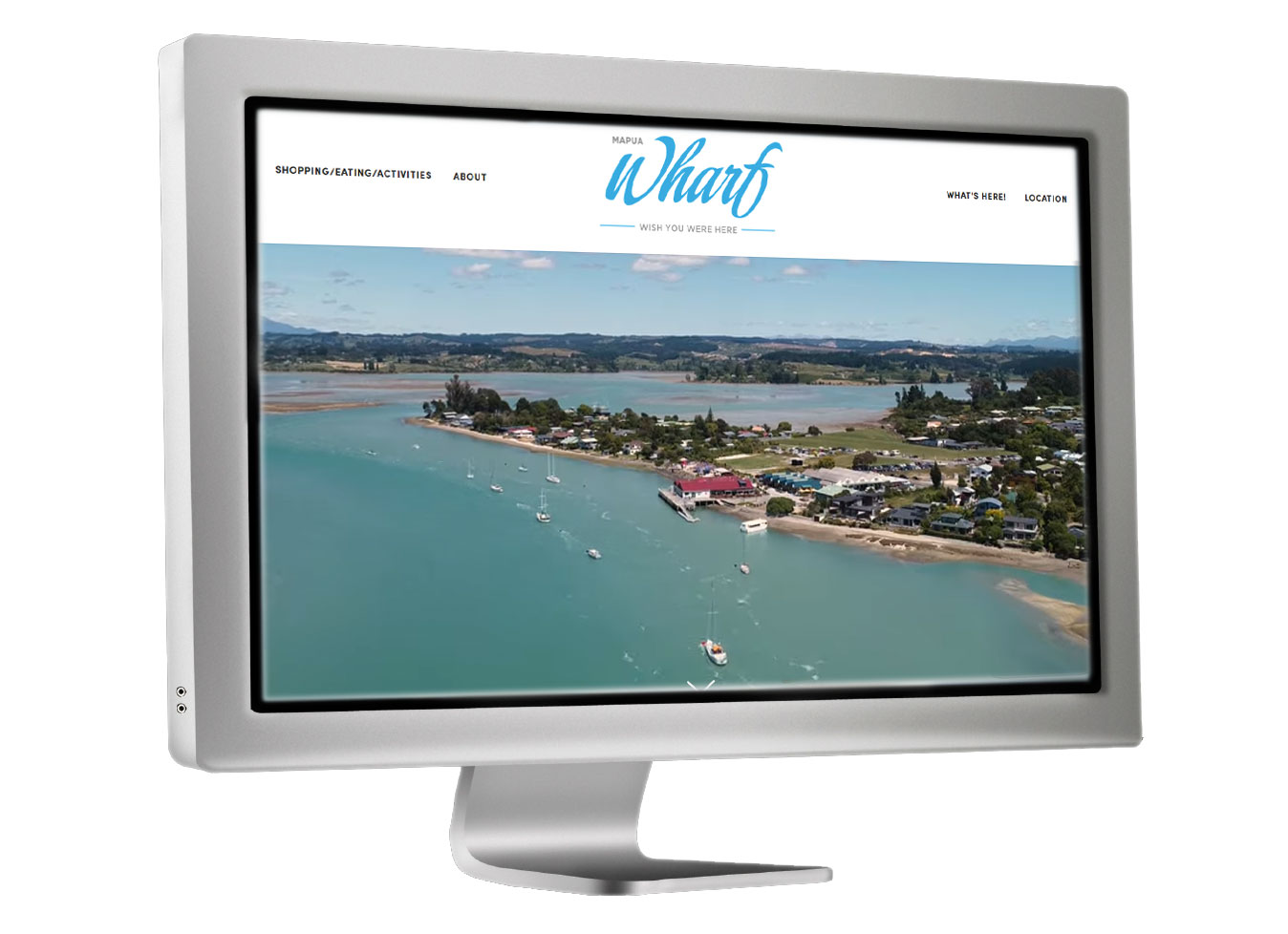 Mapua Wharf website project