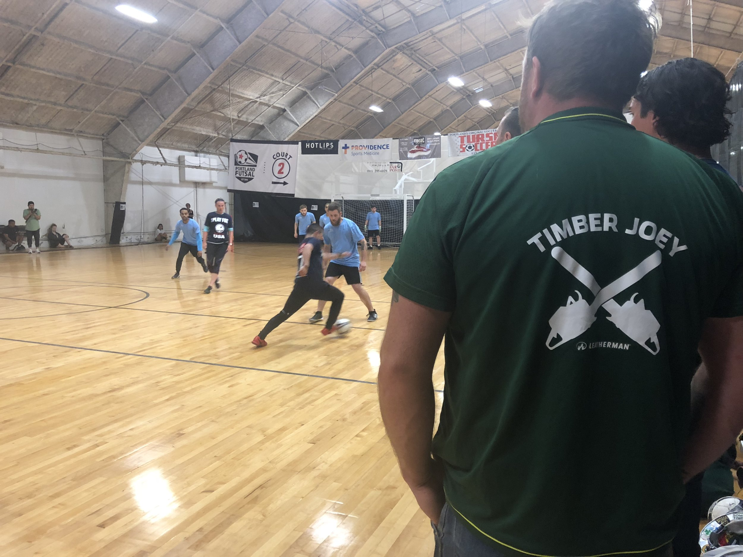 1st Annual Social Change Cup was a huge success! Timber Joey, along with several other Timbers and Thorns players were there to play and to support.