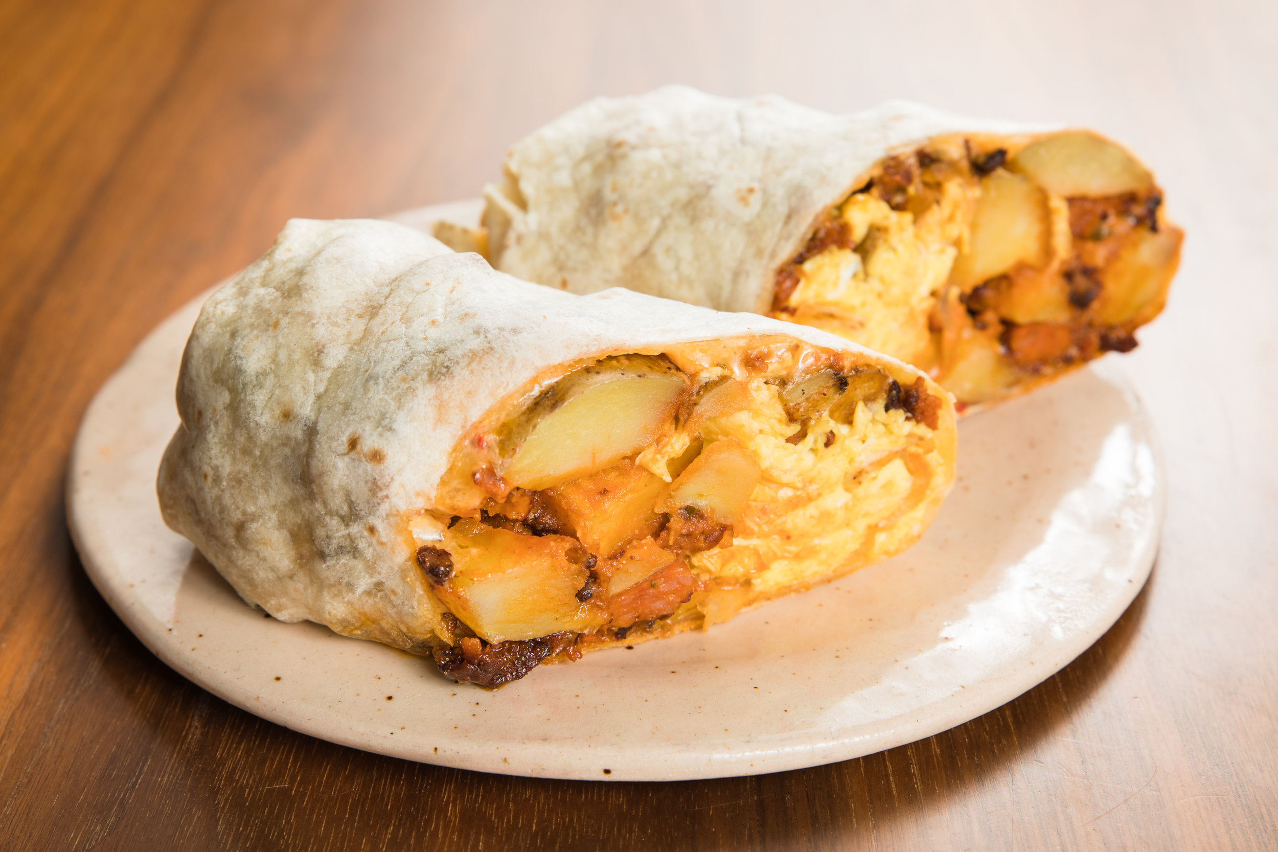 Egg and Potato Breakfast Burrito