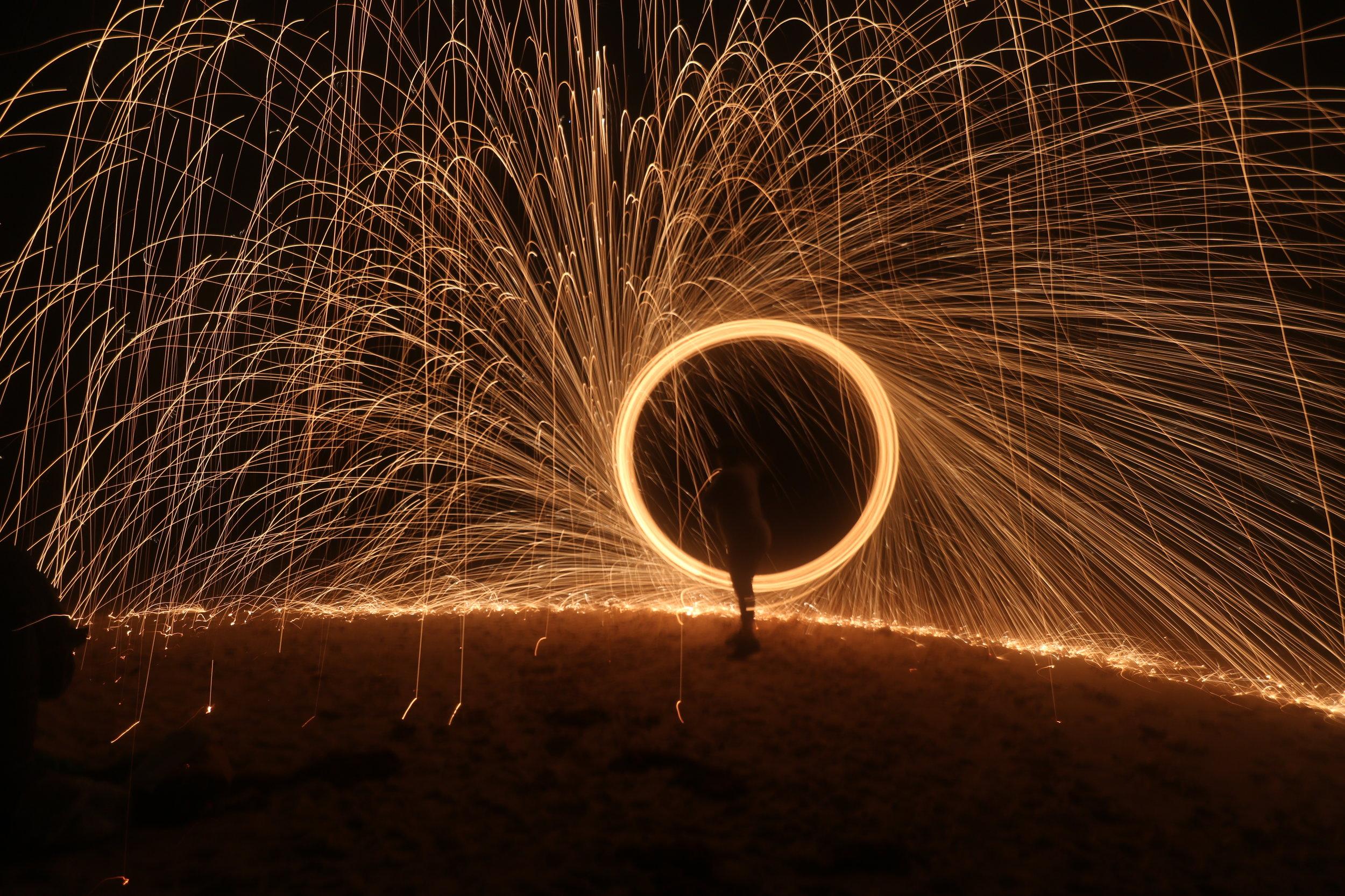 Fire Spinning, Chaplin Bay, Bermuda