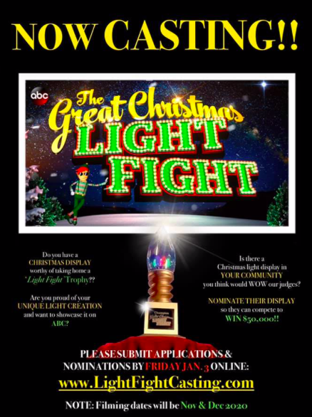 The Great Christmas Light Fight Winner 2020 Nationwide  ABC Now casting The Great Christmas Light Fight
