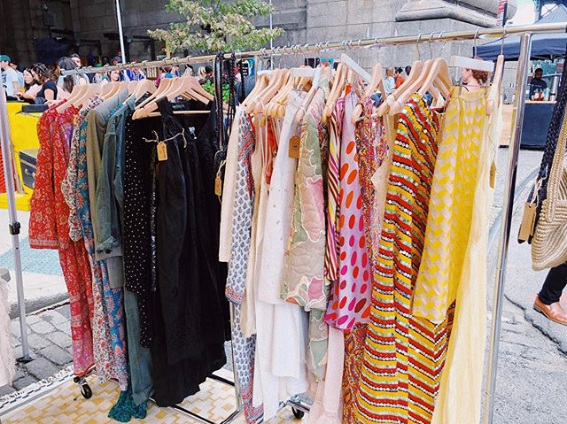 Handpicked treasure ✨ new rack of vintage lovelies from this past weekend's pop up at @bkflea 🥀 Thank you everybody who came out 🌈 #moscosummershop #summer4ever