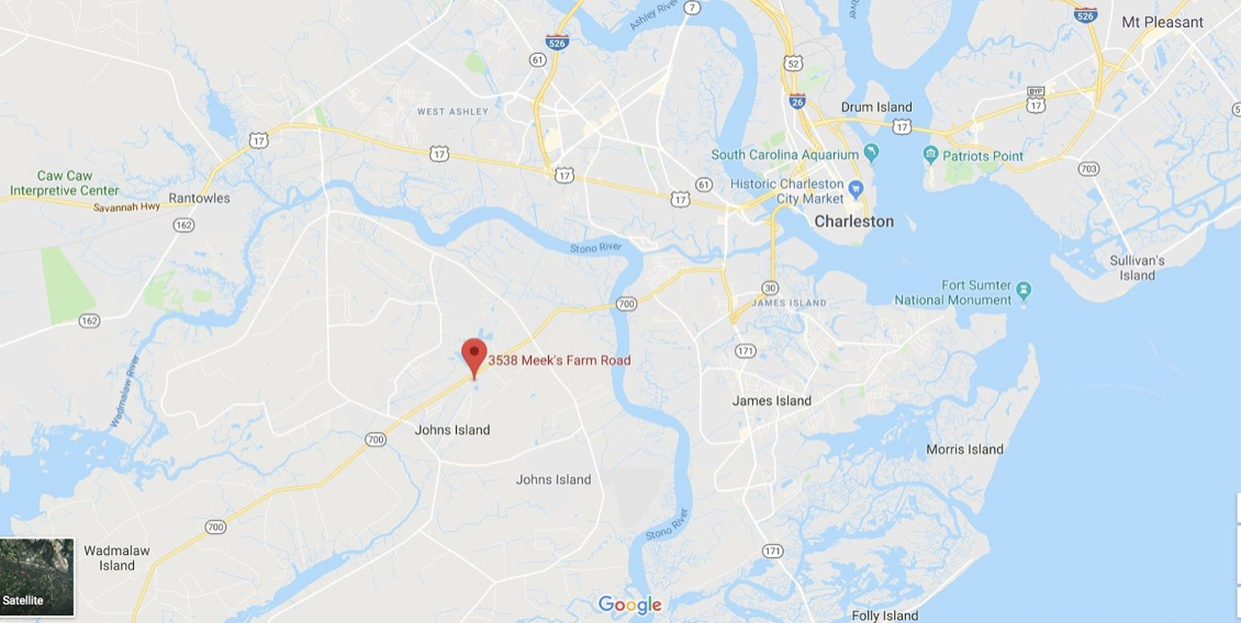 Location on Johns Island, Soon to be open Fall 2019