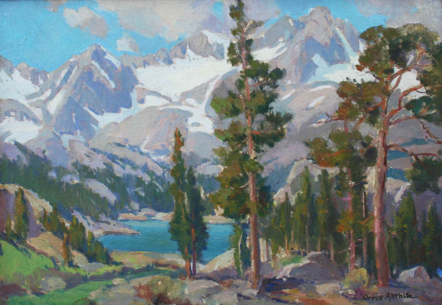 Sierra Lake with Pine Trees