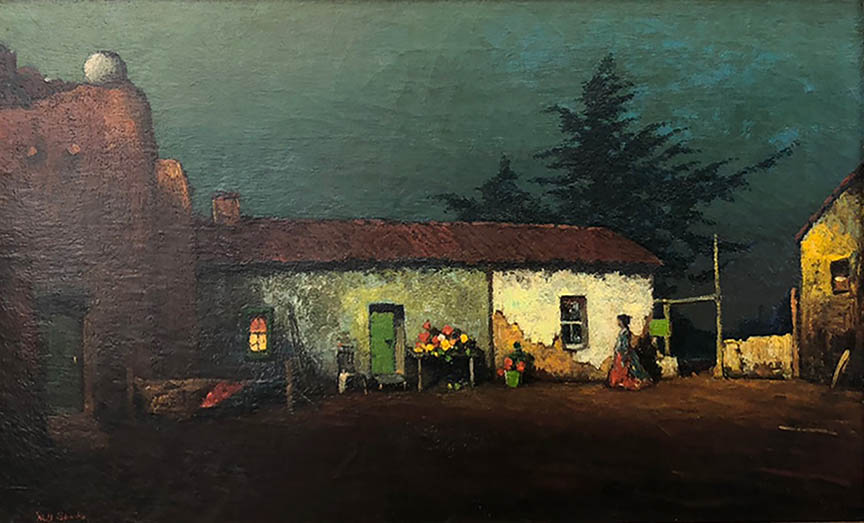 Spanish Adobe at Night
