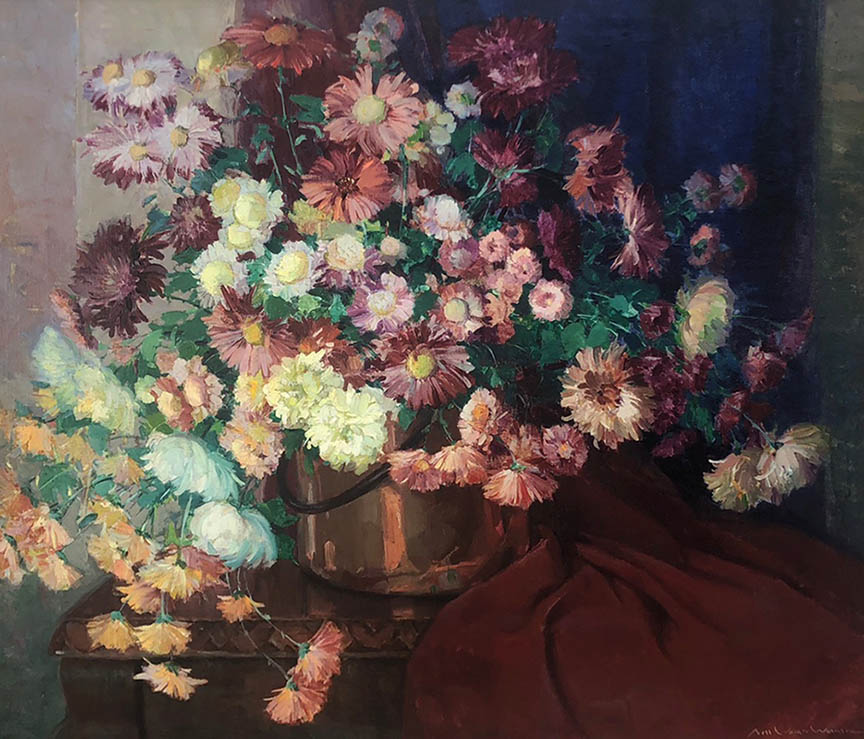 Floral with Copper Pot