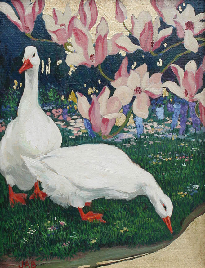 Ducks and Magnolia