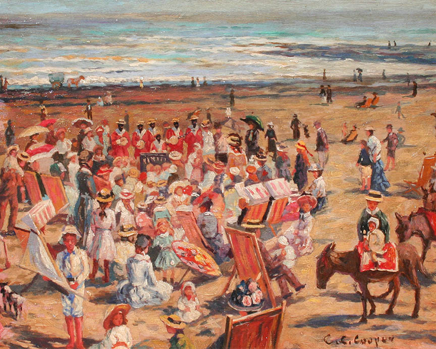 French Beach Scene