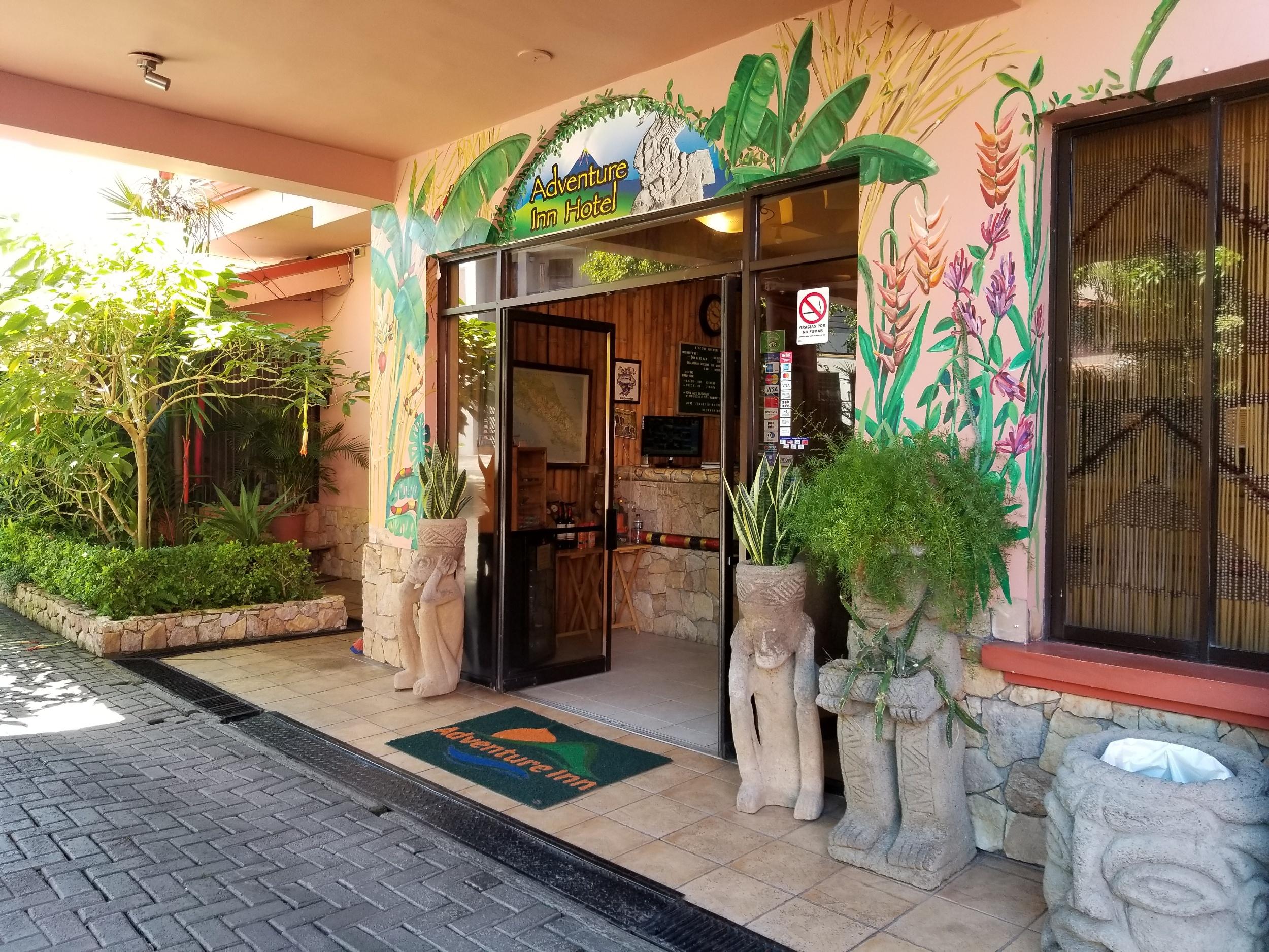 The captivating entrance of Adventure Inn.