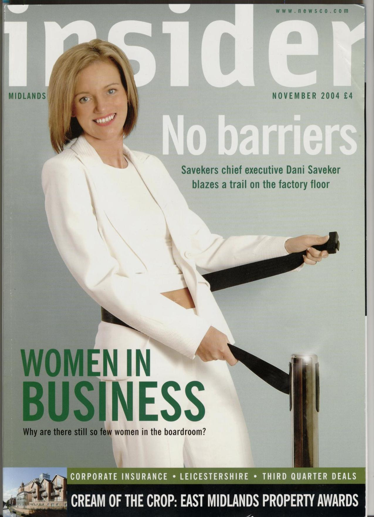 Dani on the cover of Business Insider 2004