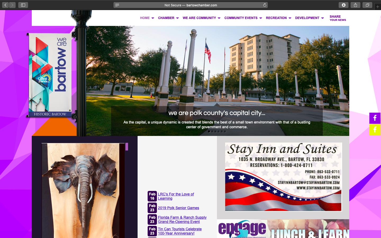 Bartow Chamber of Commerce Website Snapshot