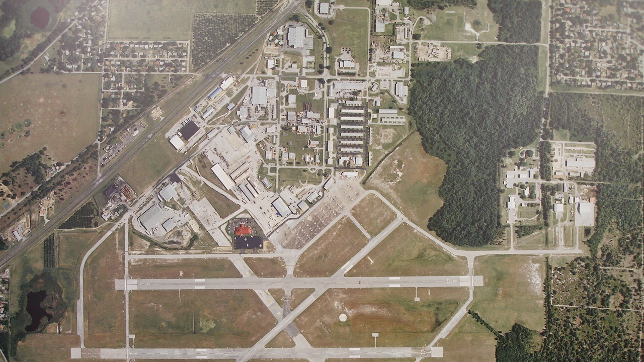 Airport Aerial of Industrial Park and Parallel Runways