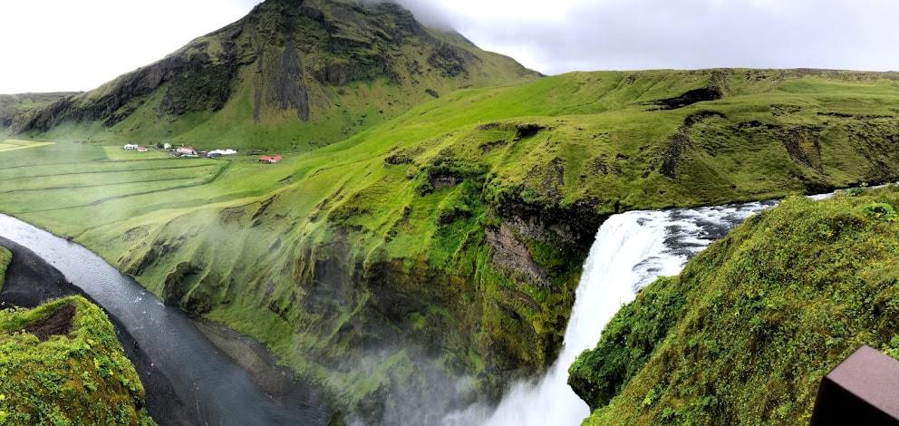 Skogafoss Waterfall from Top
