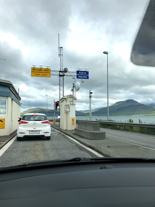 Entrance to underwater tunnel