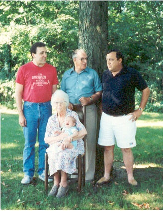 Five generations of the Weavers…Dillon, Lee, Lee's dad Larry, Lee's grandpa Weaver , and Lee's great grandma Weaver.