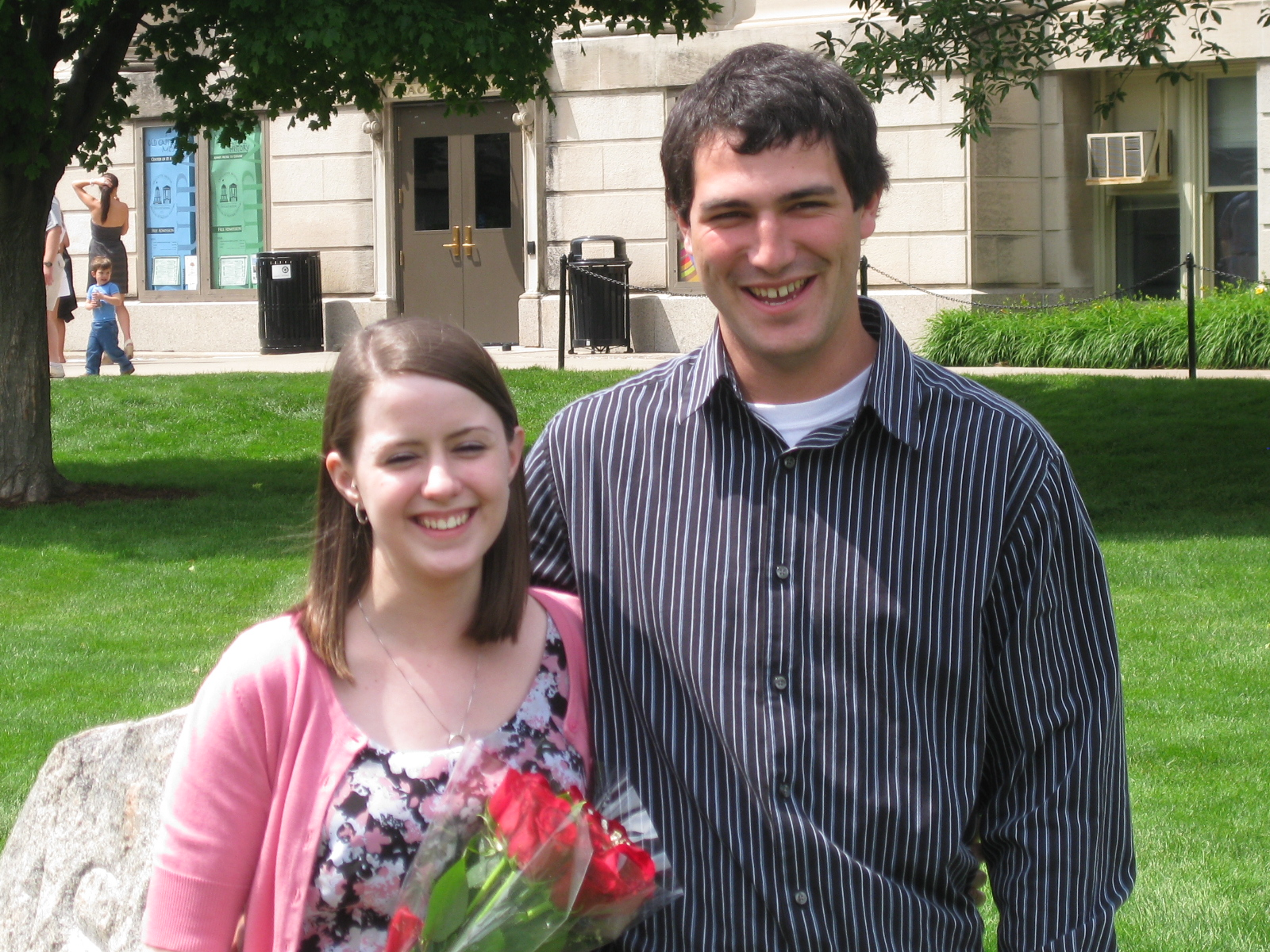 Dillon and Megan in Iowa City for Megan's college graduation.