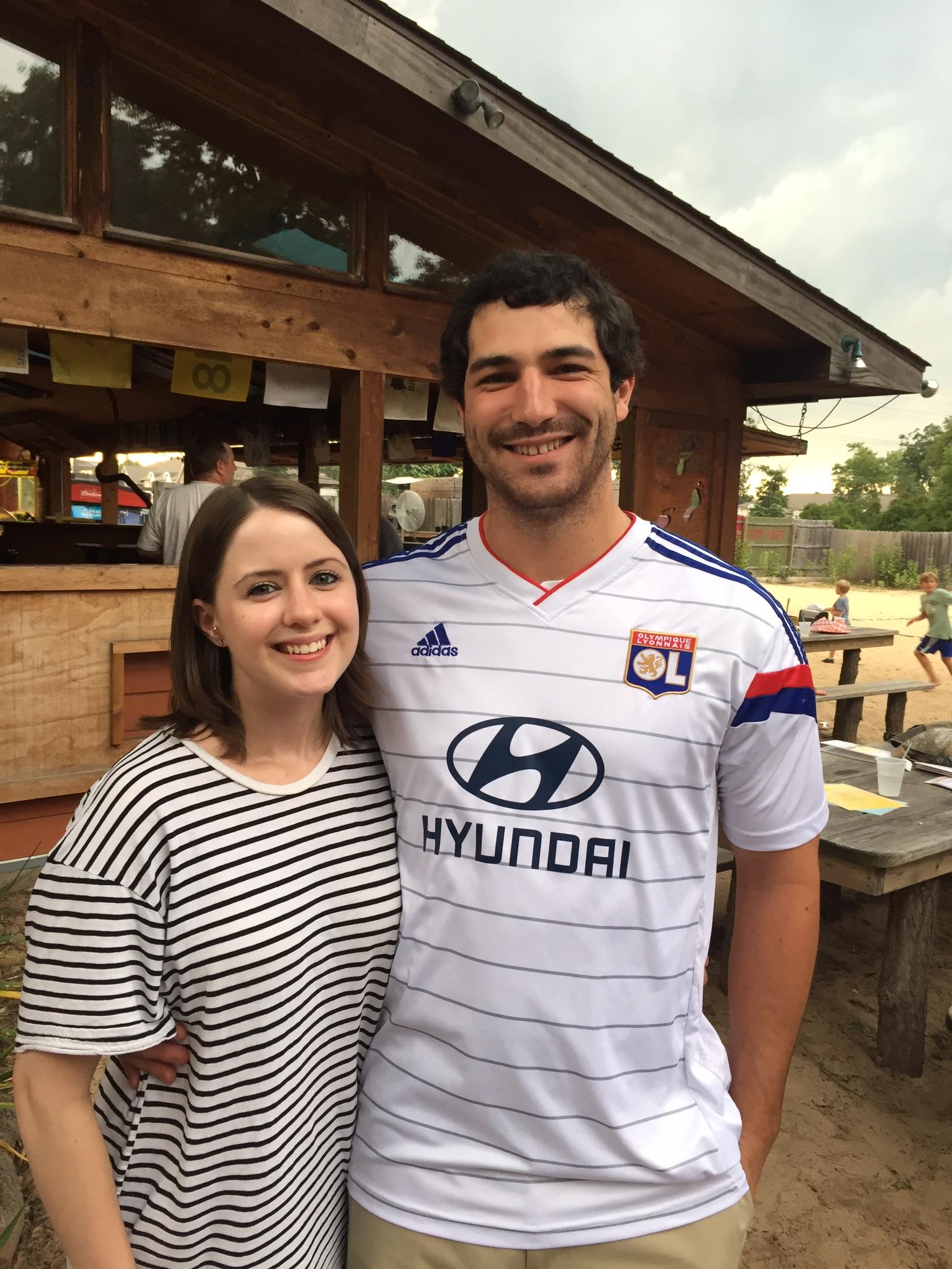 Dillon and Megan at the BOB draft party in Michigan City in 2015.