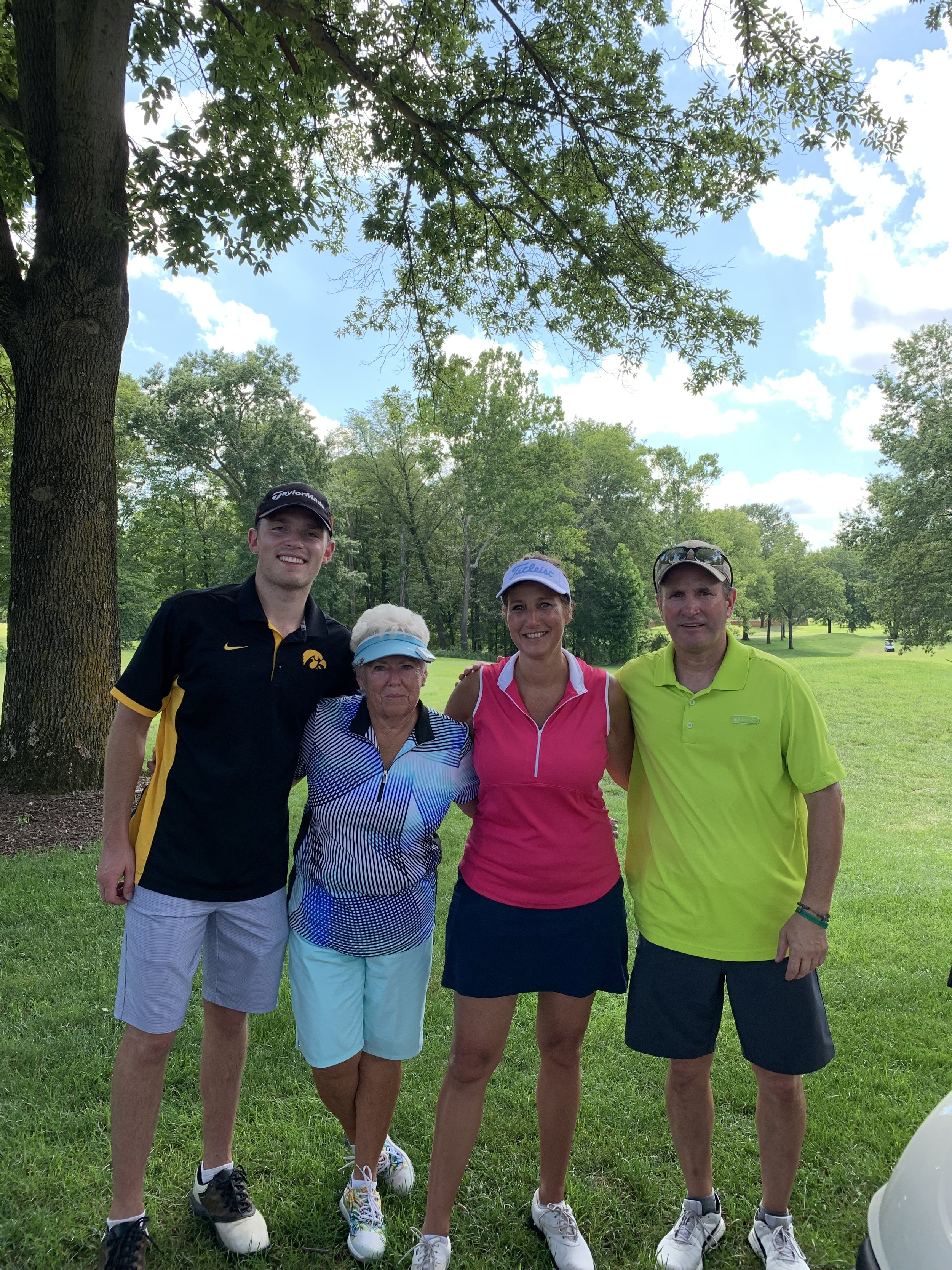 My mom, Barb Weaver, was the oldest participant in the BOB this year. This team looks pretty darn good considering they just finished 18 holes in the 98 degree heat of St. Louis!