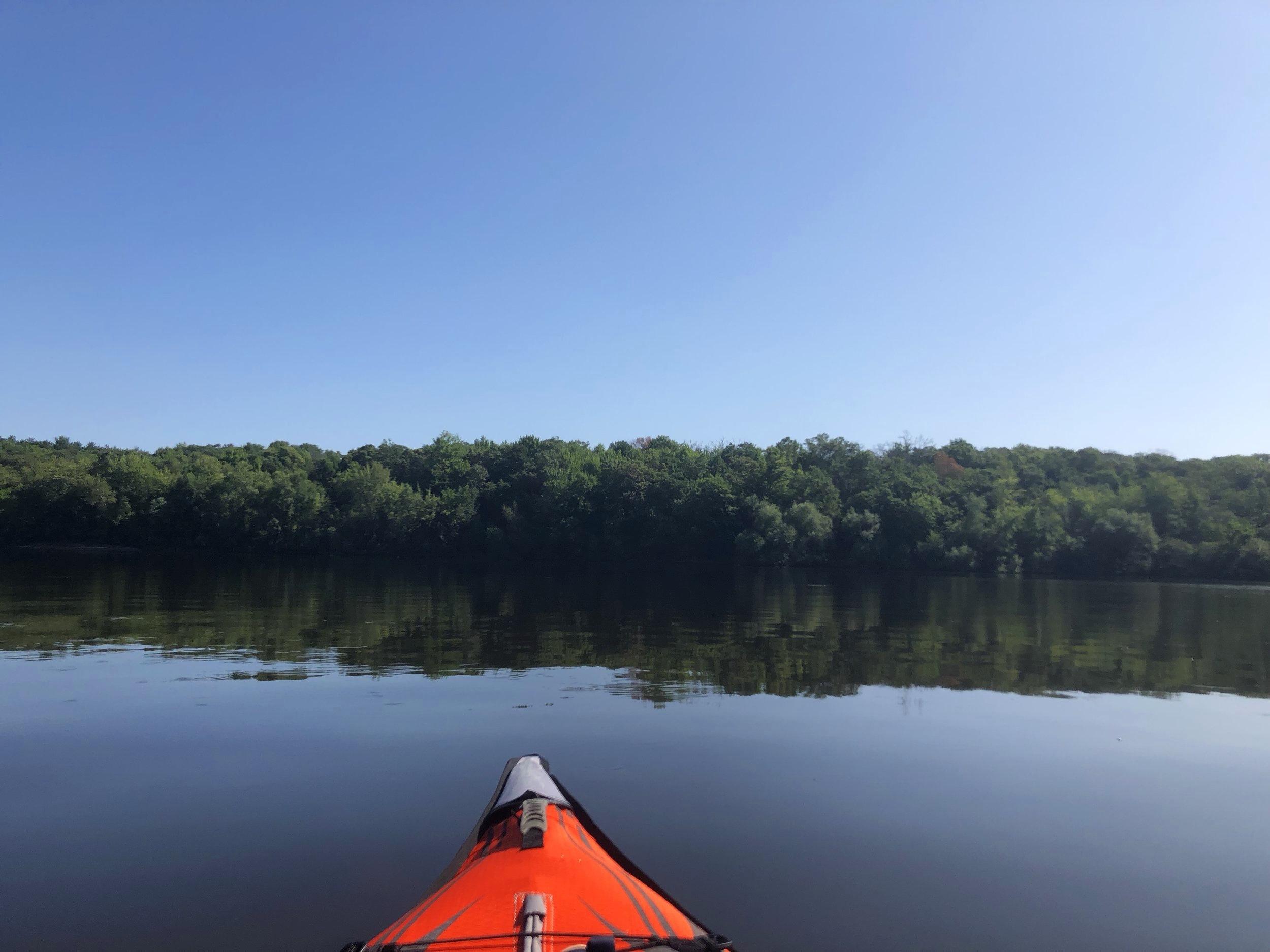 Kayaking Lake Wissota