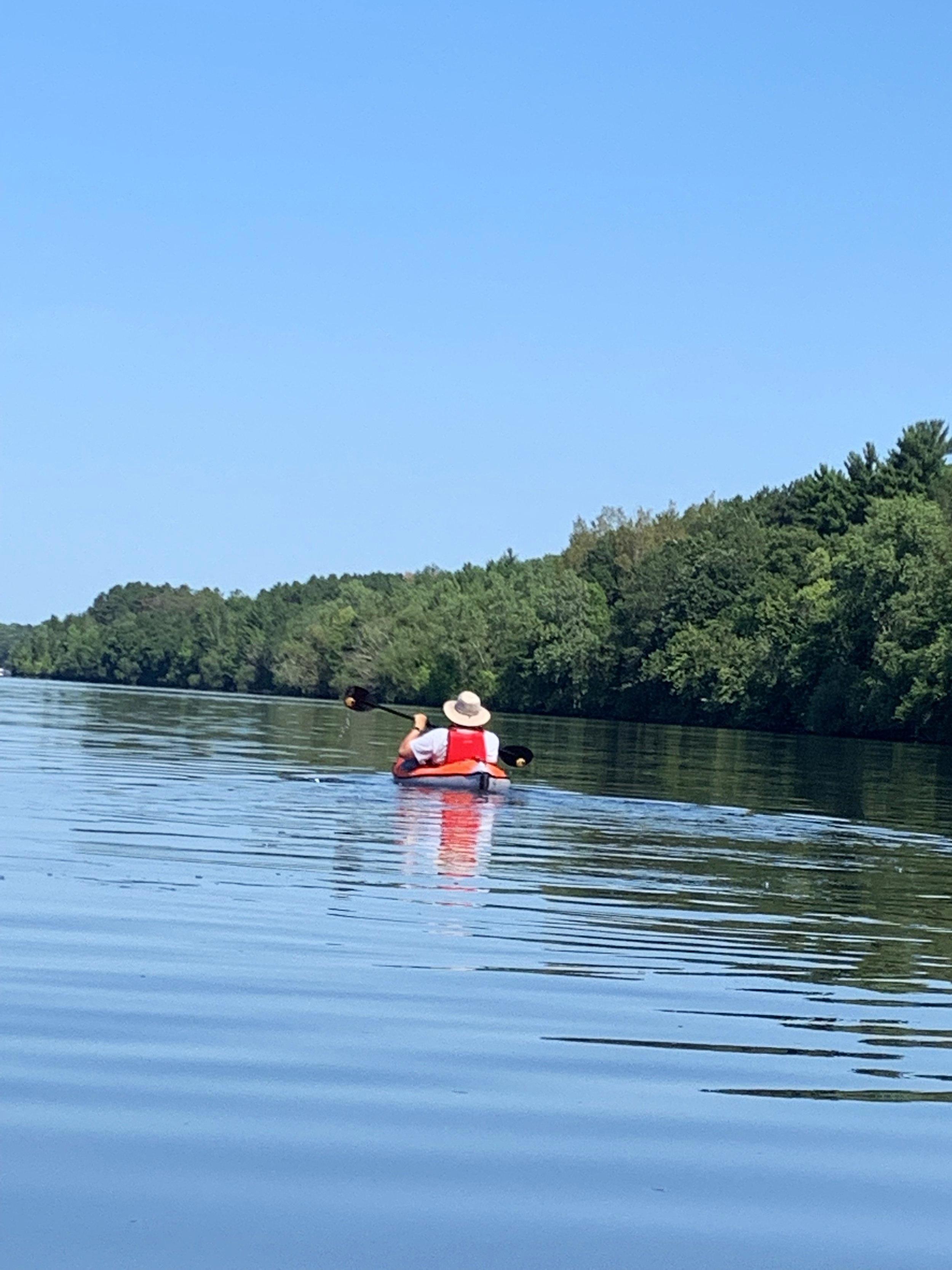 Suze captured my best side on Lake Wissota.