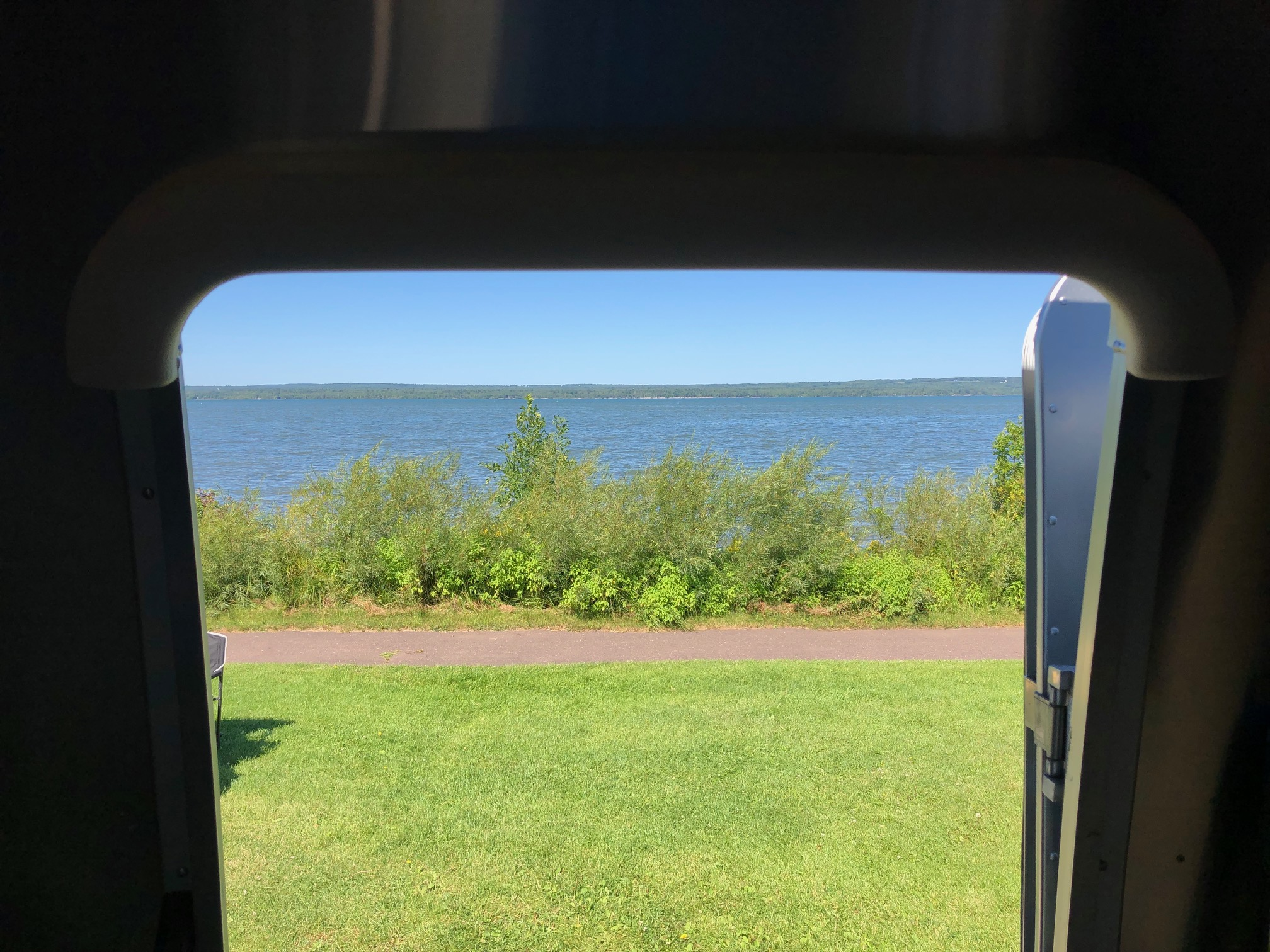 Yes, this is the view from our door. That's the big lake they called Gitche Gumee!