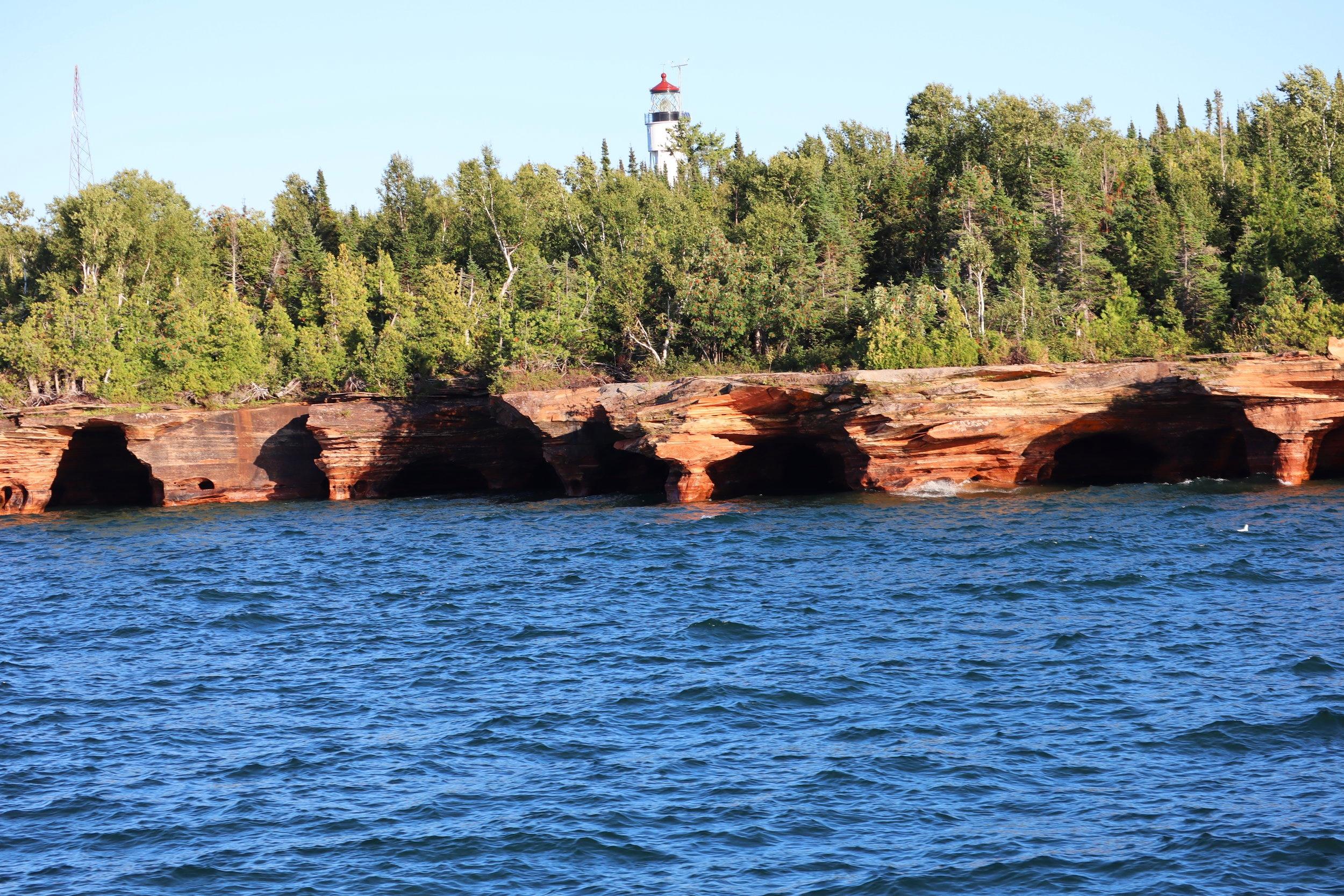The lighthouse on Devil's Island.